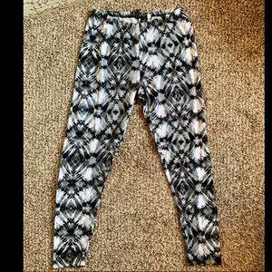 Grey and Black Tie Dye Leggings